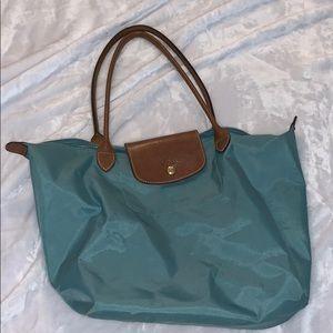 Blue Longchamp Shoulder Bag